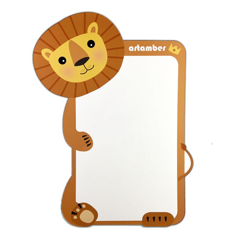 Custom 2020 new cartoon animal kids and child magnetic whiteboard for wall sticker kids of unicorn crocodile lion hippo koala