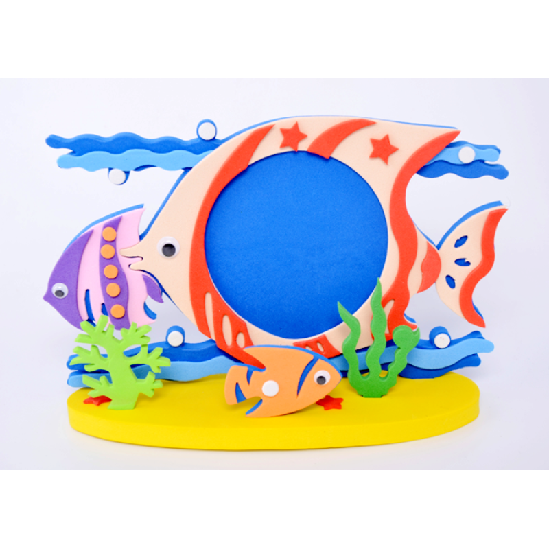 3D educational kids toys DIY eva foam photo frame