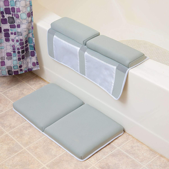 2019 hot sale baby bath kneeler pad with elbow pad set