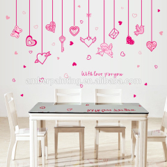 wall decals love bedroom pink wall treatments stickers for girls kids