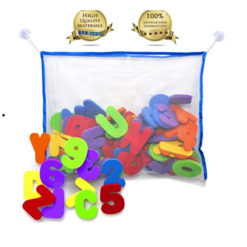 Alphabet letter tub town foam bath toy set and ship