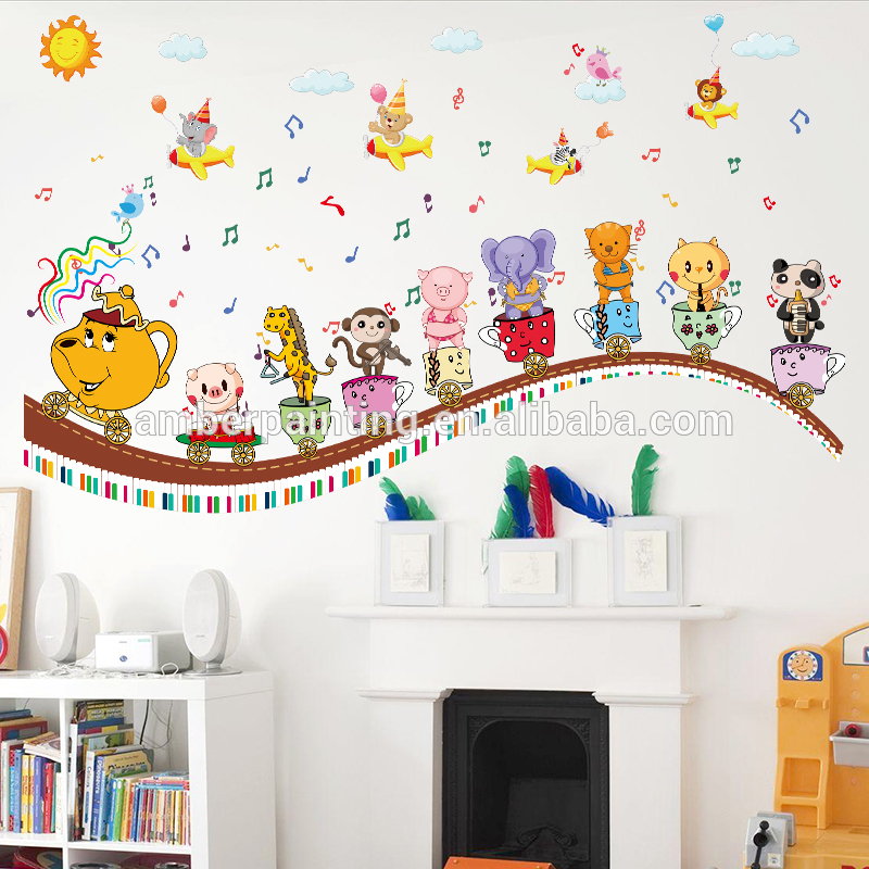 New popular craft kid cute adhesive personalize wall decals music
