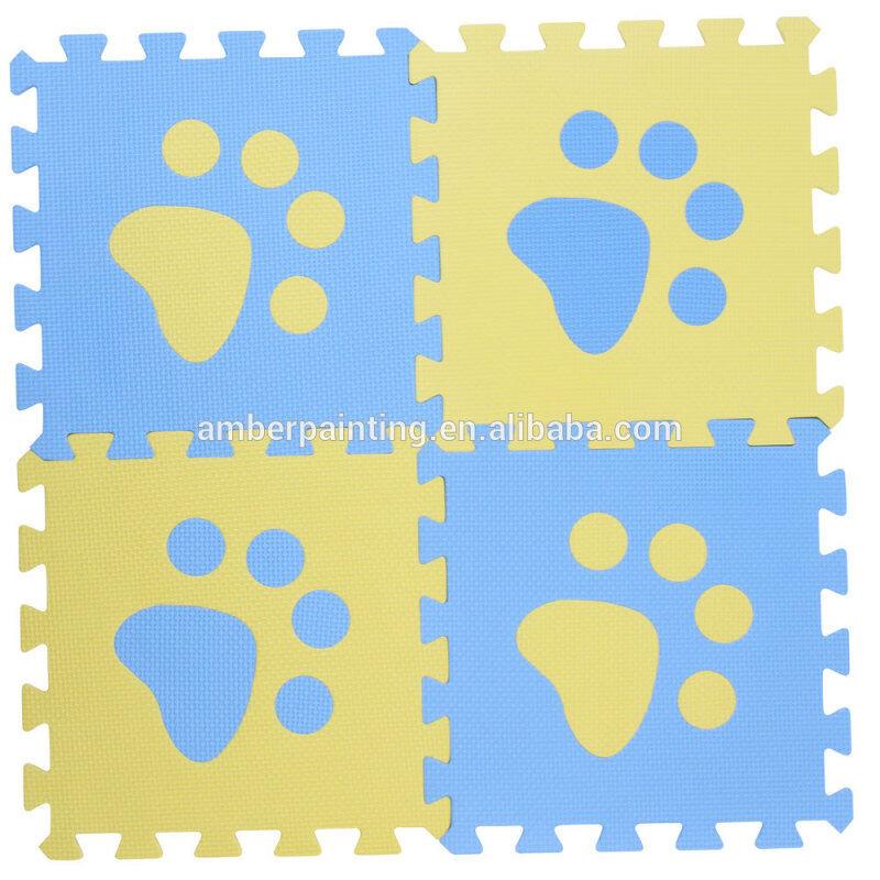 kids foam folding exercise play puzzle mat puppy footmark taekwondo mat