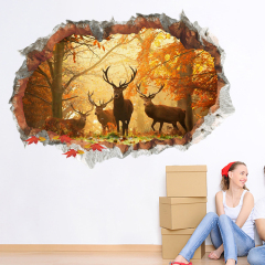 Wholesale adhesive 3D PVC wall decals sticker