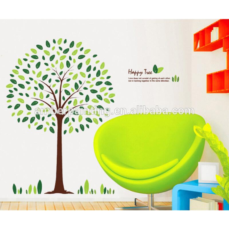 beautiful design art tree wall sticker for bathroom
