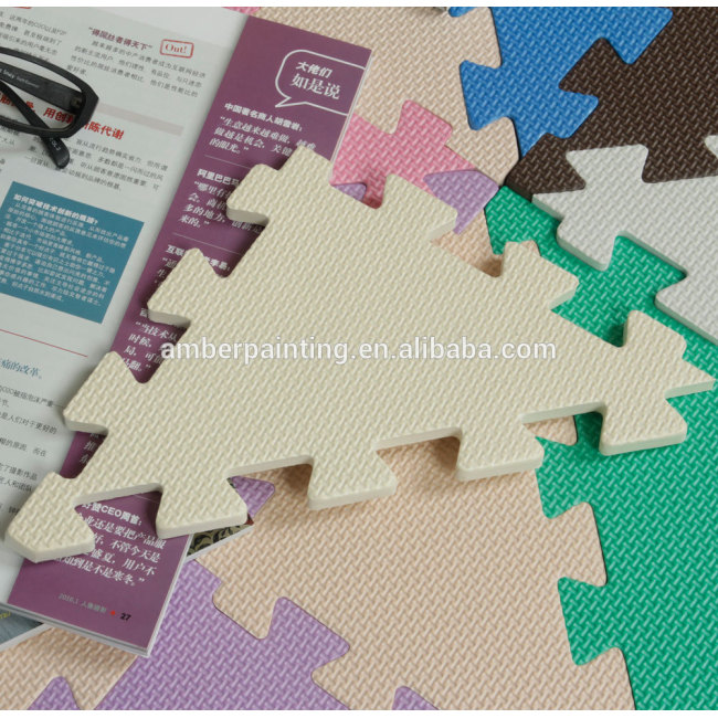 foam mini custom puzzle flooring mat waterproof baby play triangle mat