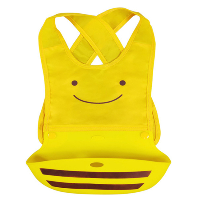 silicone baby waterproof rubber bib for boys and girls