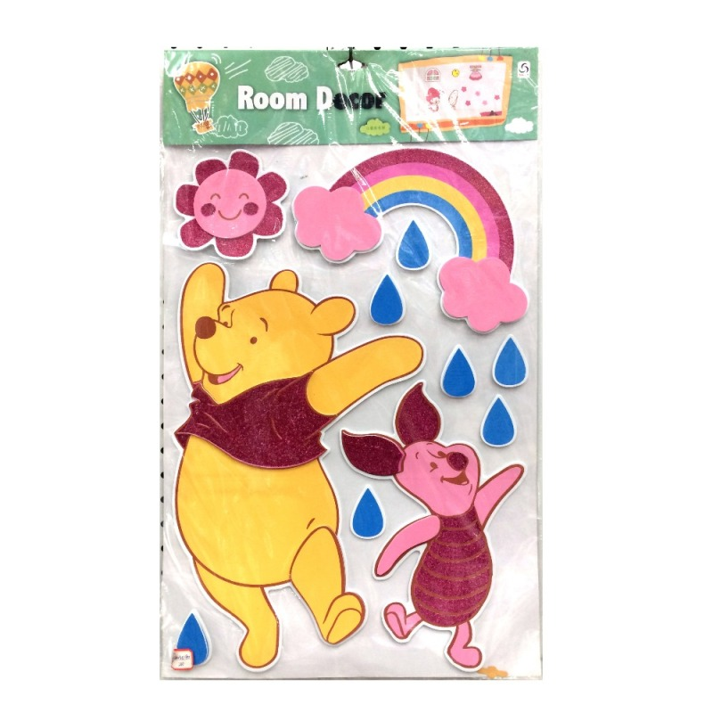 Factory supply Eva foam glitter sticker custom print puffy stickers for kids