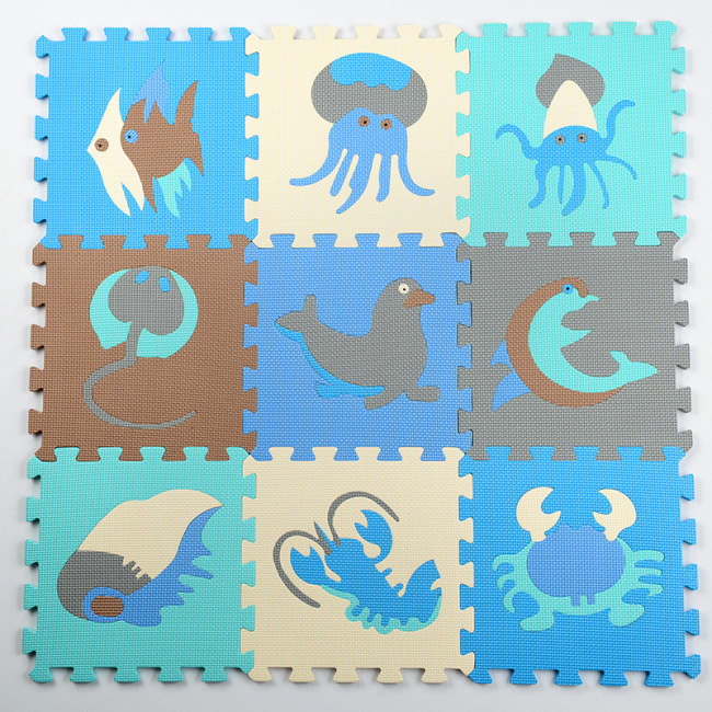 children eva foam wood grain floor game coating mat baby play mat gym