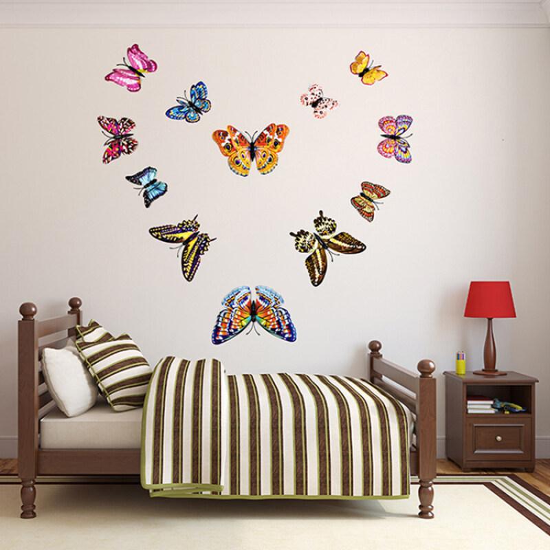 Double layer glow in dark butterfly wall sticker