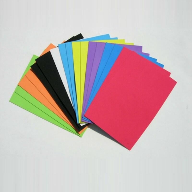 Custom size self adhesive multicolor eva foam plain sheet
