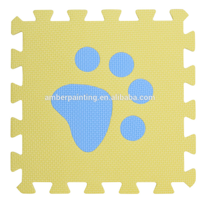 baby foam floor puzzle footprint mat ground card game play mat