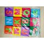 Custom design educational alphabet number printing eva foam dice toy