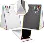 magnetic mini children kid Custom dry eraser folding double sided flexible cardboard magic blackboard easel stand price