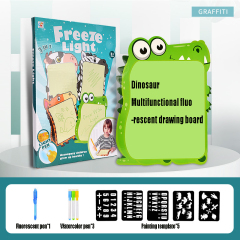 Wholesale light drawing board a4/ a3 3d fluorescence kids drawing board drawing board