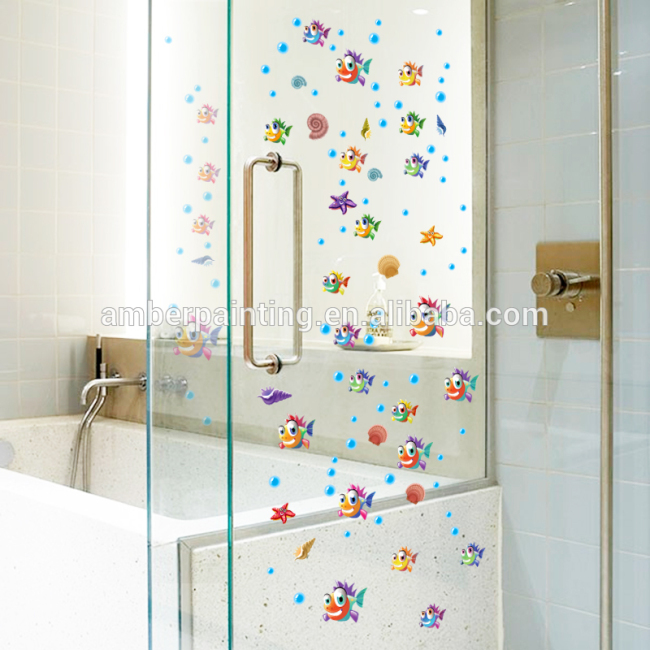 child unique tropical fish bathroom wall ocean decals