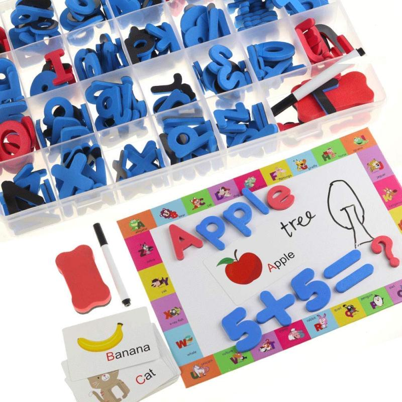 New Diy Kits EVA Magnetic Alphabet Educational Toys with white board