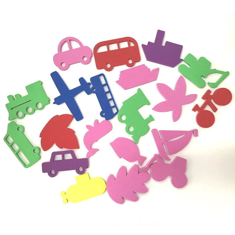2020 NEW toddler toys all kinds of shape educational EVA foam bath toy set for baby