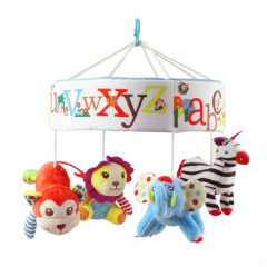 newborn baby crib mobile sound machine soother hanging toy