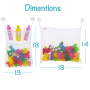 2 x Mesh Bath Toy Organizer set for Baby Shower Accessories with 6 Suction Hooks