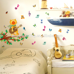 guitar musical note decals for wall quote removable vinyl art mural