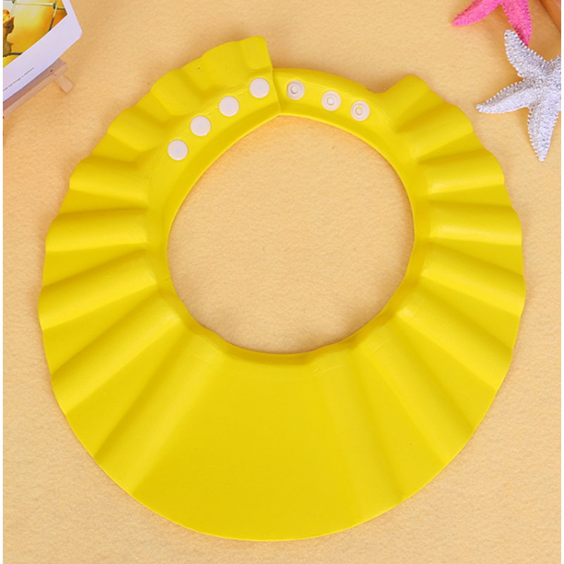 Wholesale high quality bathing baby adjustable shower cap can be customized baby cap shower