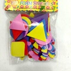 Self adhesive eva sticker alphabet number foam sticker for kids