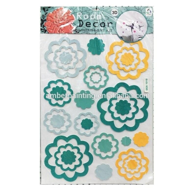 Non toxic OEM design butterfly eva foam wall sticker for room decor