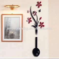 Stylish removable 3d acrylic wall sticker for home decoration