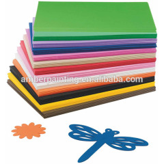 Kids crafts colored adhesive rubber eva foam sheet