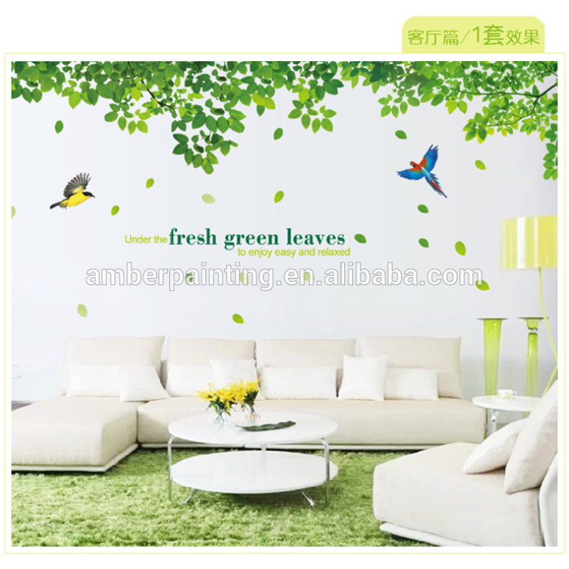 Family or restaurant mural natural wall stickers