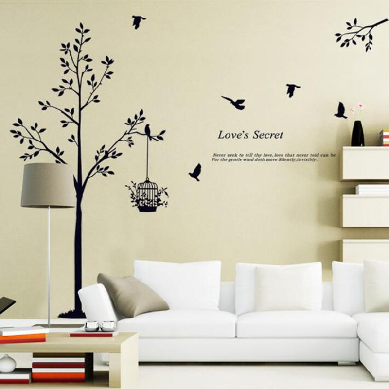 new product diy oem wall decoration adhesive sticker tree for living room