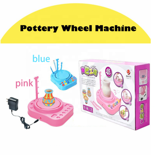 2020 new creative Drawing Game Electric Diy Workshop Kids Pottery Wheel Toy