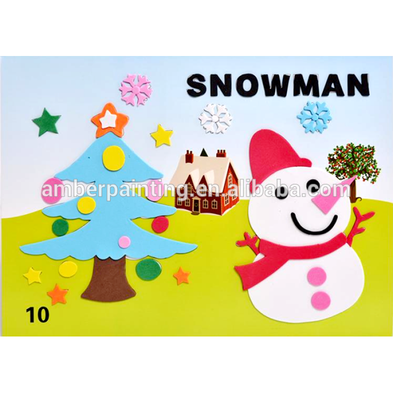 OEM best selling eva toys self adhesive diy foam sticker sheet