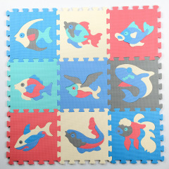 baby antislip toys eva plain sports mat educational Ocean foam puzzle mat