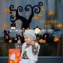 Happy Halloween removable Pumpkin tree PVC wall sticker decoration