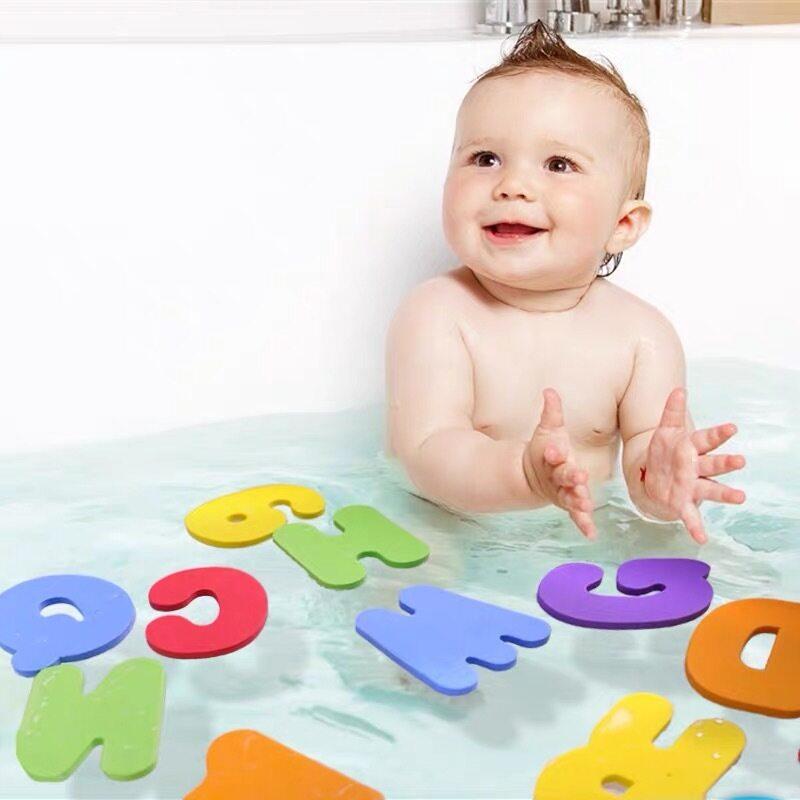 Baby Bathtub bath Toys 36 Bath Letters and Numbers eva Foam bathroom for kids