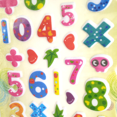 bottom price number math wall lamp kids puffy sticker sheets