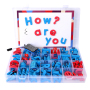 Hot selling educational baby toys cheap magnetic letters with board