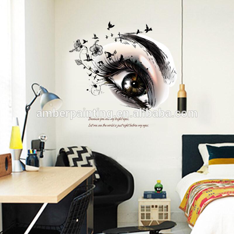 DIY PVC vinyl big eyes wall decals decor kichen