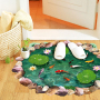 3d wall sticker of lotus leaf and fish for livingroom