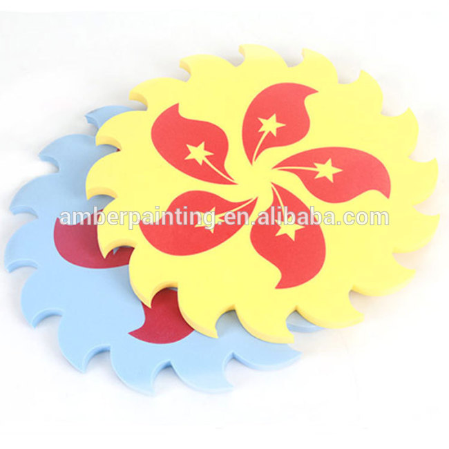 diy custom mini soft foam frisbee toy for boys flying sport discs