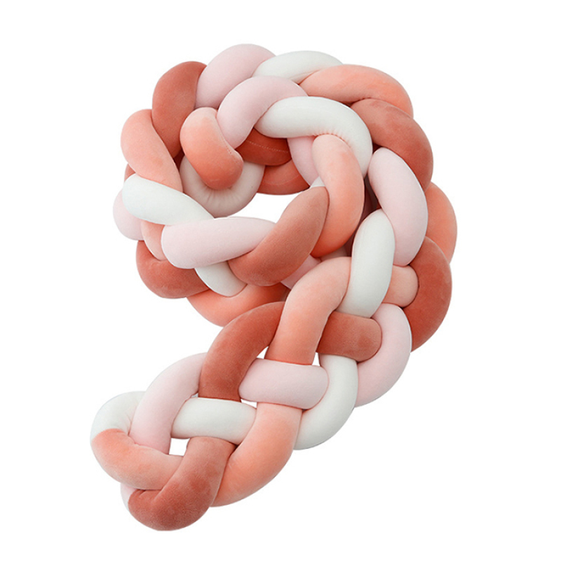 Best selling children's anti-collision braided strip four-strand twist knot floor cushion for bed