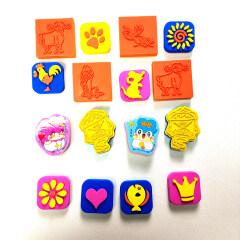 Custom design EVA foam rubber stamp for kids