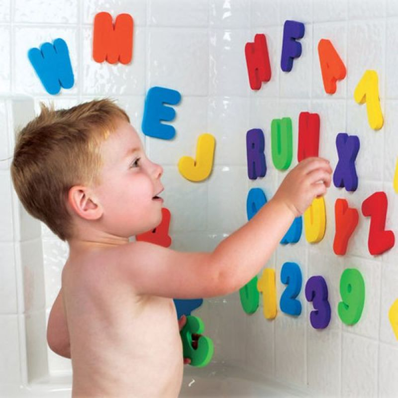 High quality eco friendly educational letter baby foam bath toys