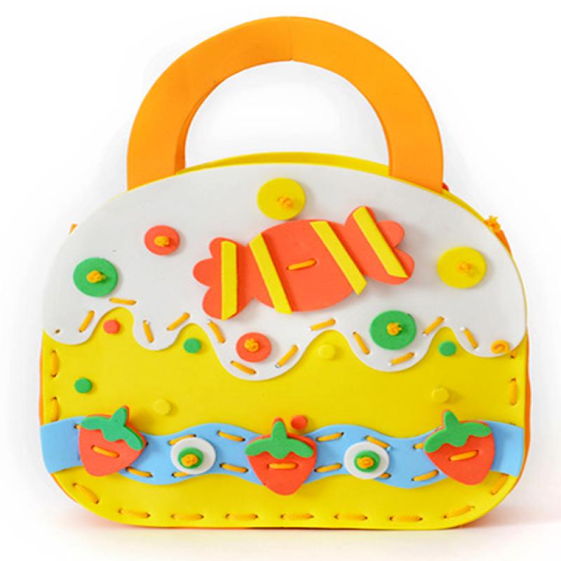 Custom design DIY kids educational toys bag eva foam bag