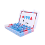 Wholesale high quality abc magnetic learning letters set box can be customized blank fridge magnet