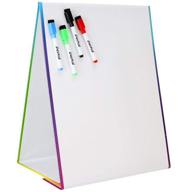 Educational small stand-able magnetic toy foldable whiteboard for kids