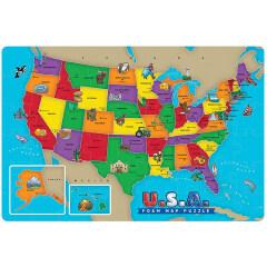 Wholesale educational 3d eva foam world map puzzle for kids