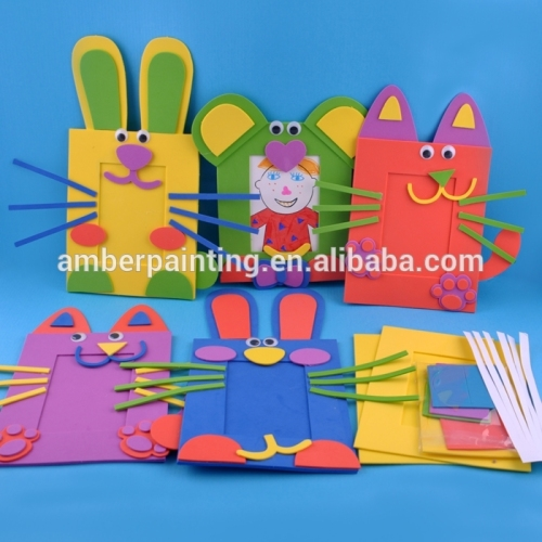EVA foam lovely animal photo frame toys for kids diy